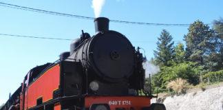 Le train à vapeur qui traverse le parc national des Cévennes