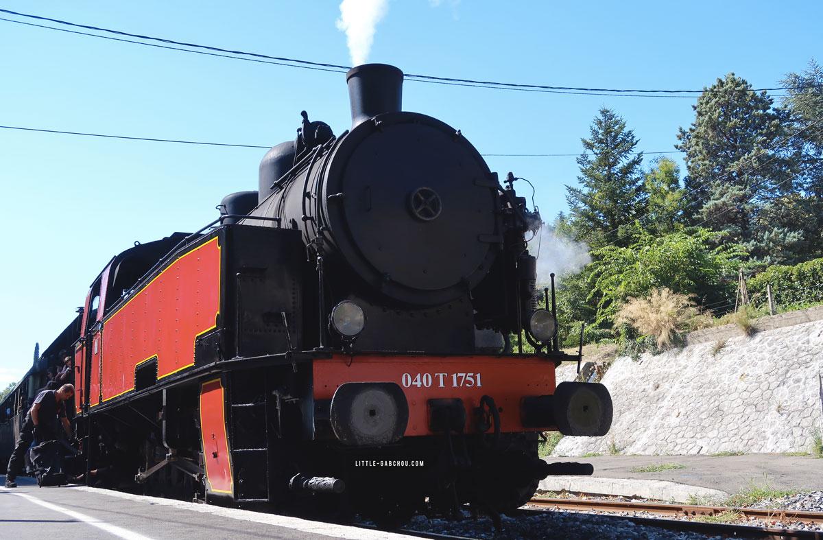 train à vapeur pour parcouru les Cévennes