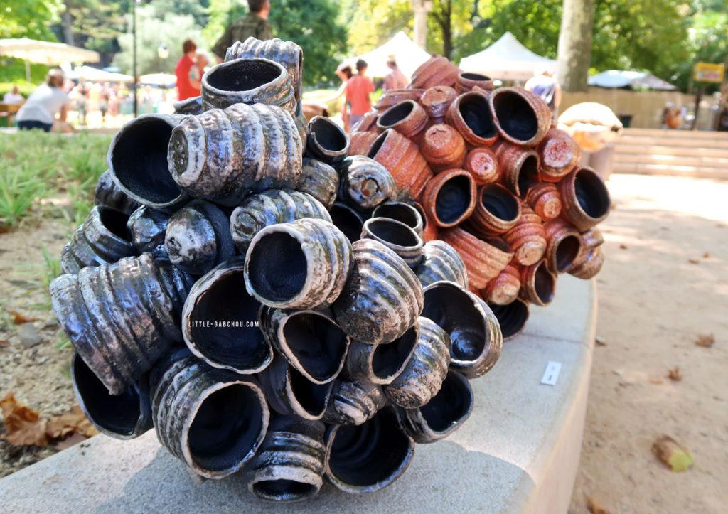 parc des cordeliers lors du festival de la céramique