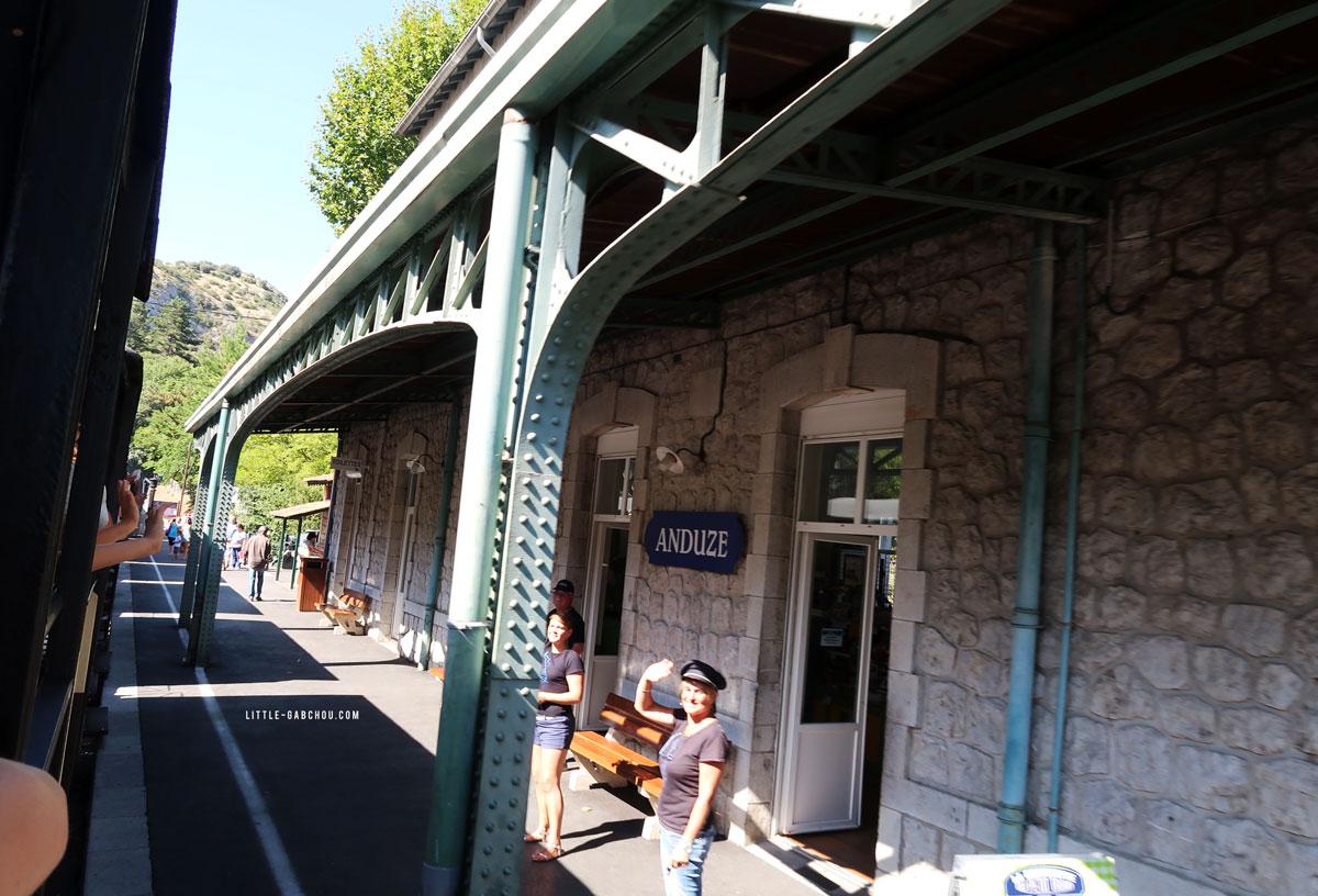 gare d'Anduze du train à vapeur des Cévennes