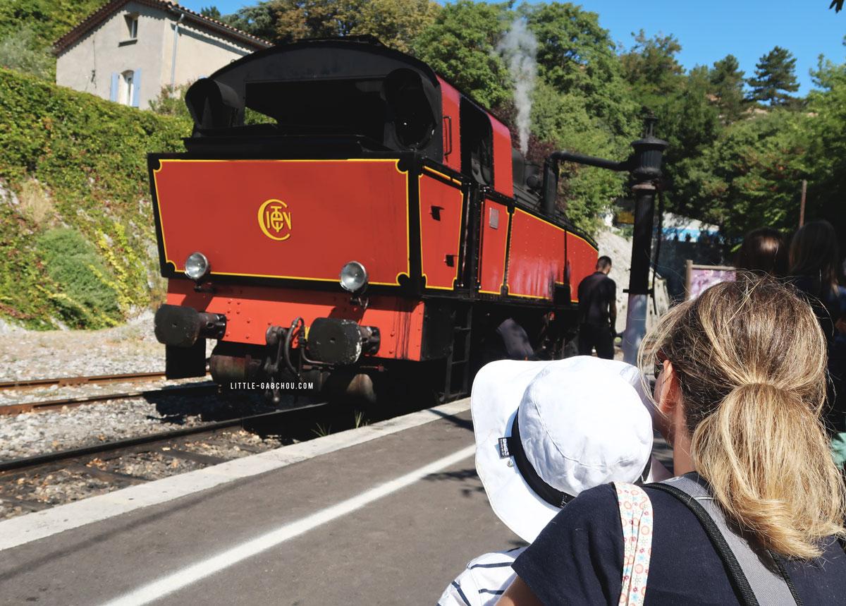 locomotive du train à vapeur des Cévennes