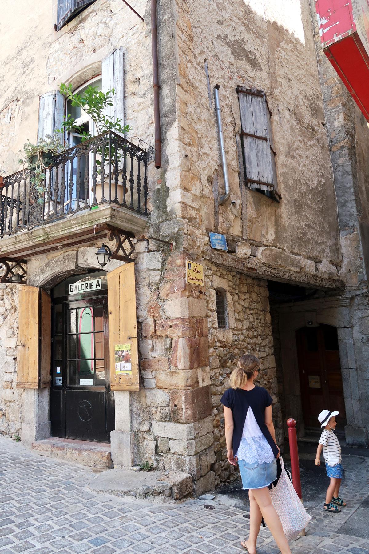 petites rues dans le centre historique Anduze