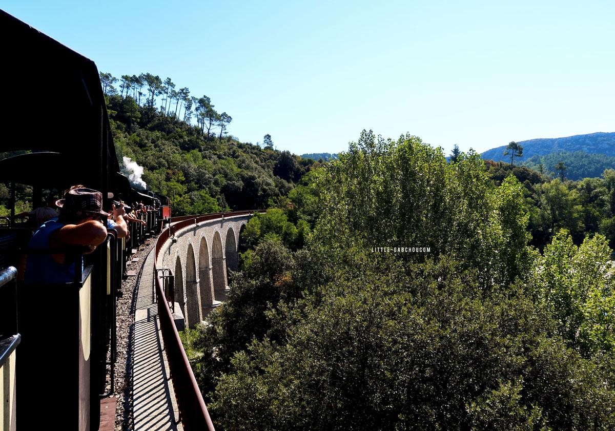 train à vapeur passage sur le viaduc