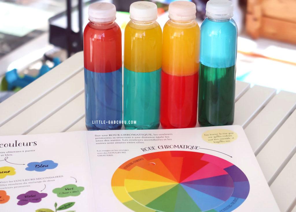 bouteilles sensorielles bicolores