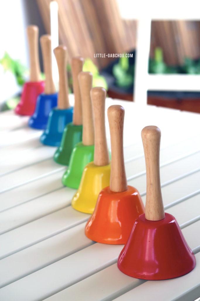 éveil musicales cloches Montessori Nature et Découverte