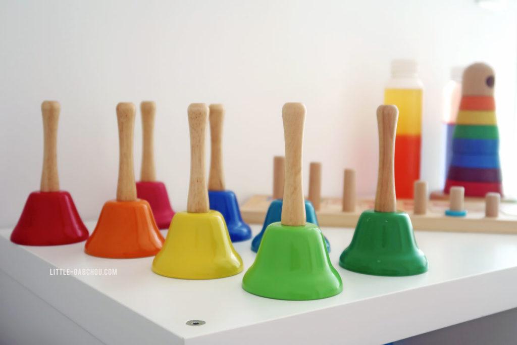 matériel montessori pour atelier musical