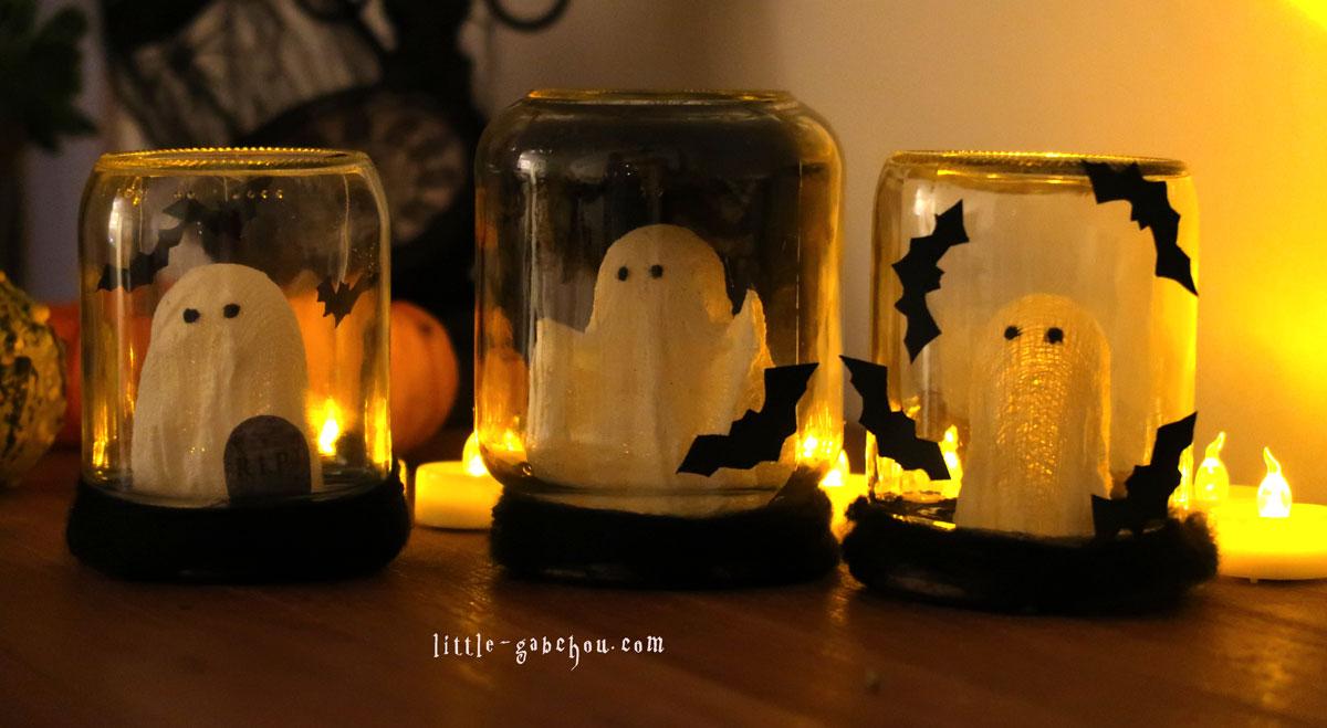 tuto d coration d 39 halloween partir de bocaux en verre upcycl s. Black Bedroom Furniture Sets. Home Design Ideas