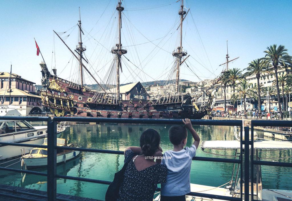 Bâteau des pirates port de Gênes