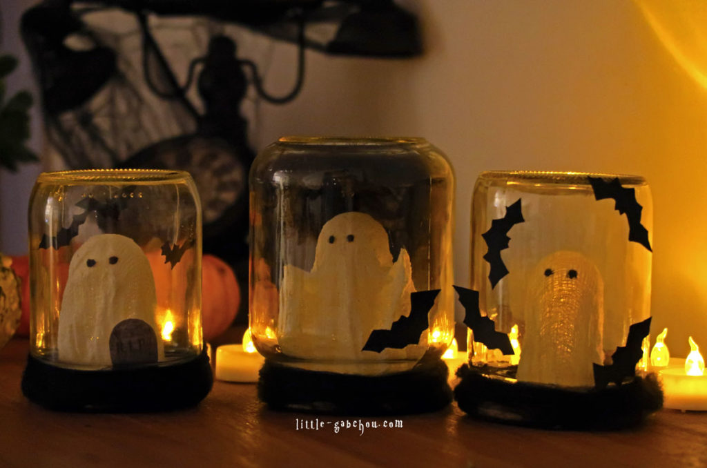 tuto d coration d 39 halloween partir de bocaux en verre. Black Bedroom Furniture Sets. Home Design Ideas