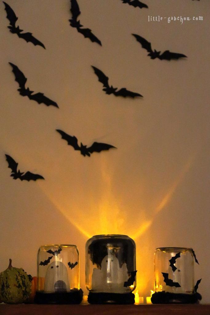 tuto d coration d 39 halloween partir de bocaux en verre. Black Bedroom Furniture Sets. Home Design Ideas