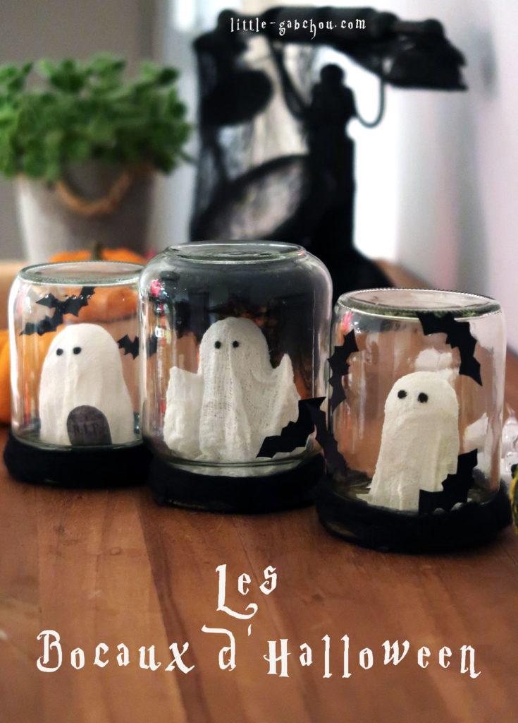 Comment fabriquer des bocaux d'Halloween en pots de confiture upcyclés
