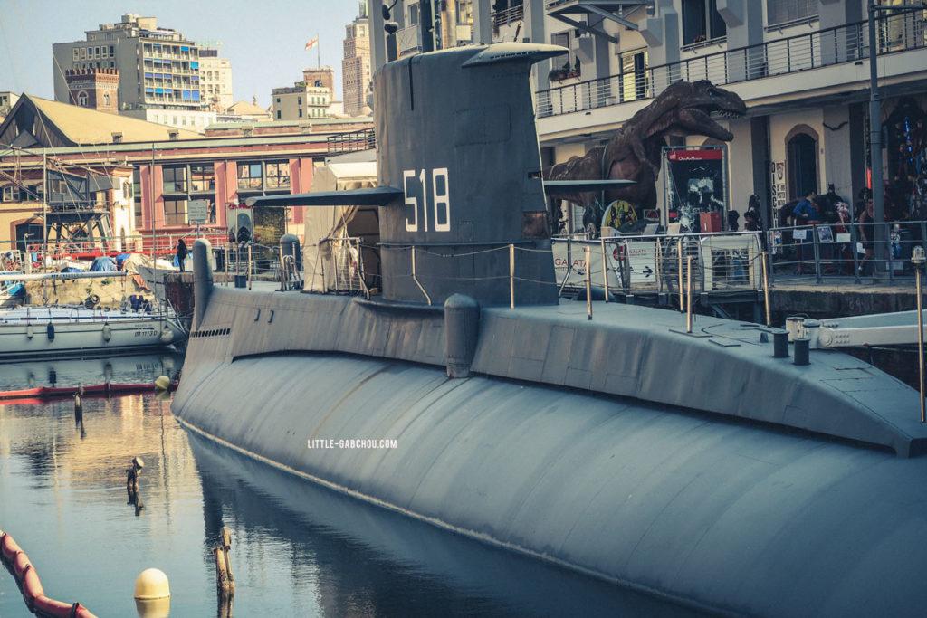 sous-marin Porto Antico Genova