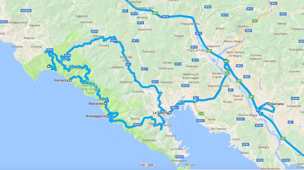 road trip dans les cinq terres