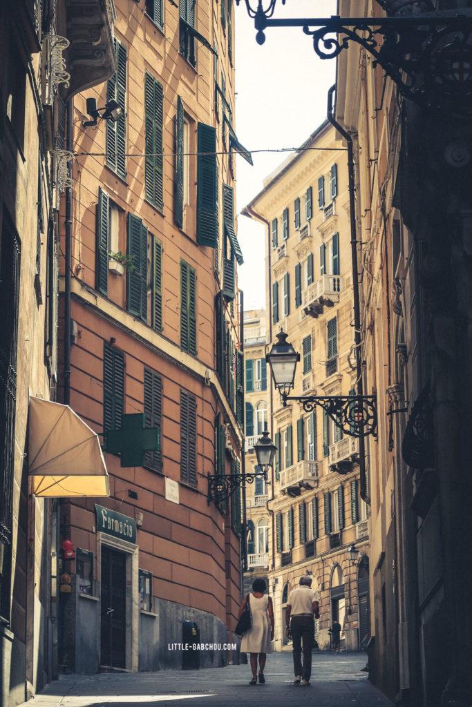 Vielle ville de Gênes Italie