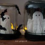 DIY des fantômes et bocaux d'Halloween