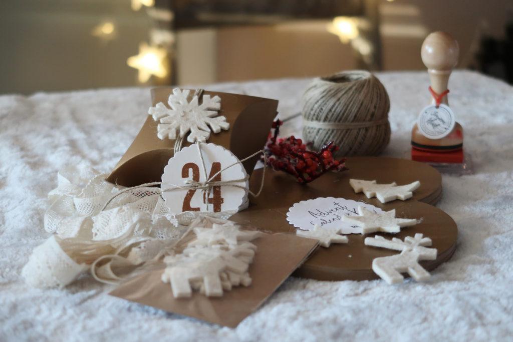 kit de fabrication calendrier de l'avent handmade
