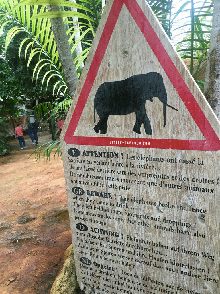 signalisation éléphants et activités pour les enfants dans la Drôme