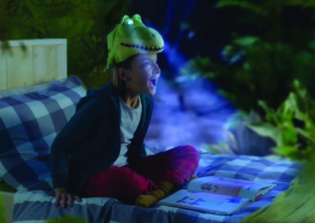 Flash mask chapeau lumineux dinosaure de Jemini