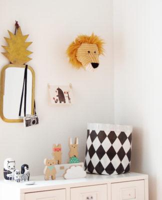 Trophée en peluche lion
