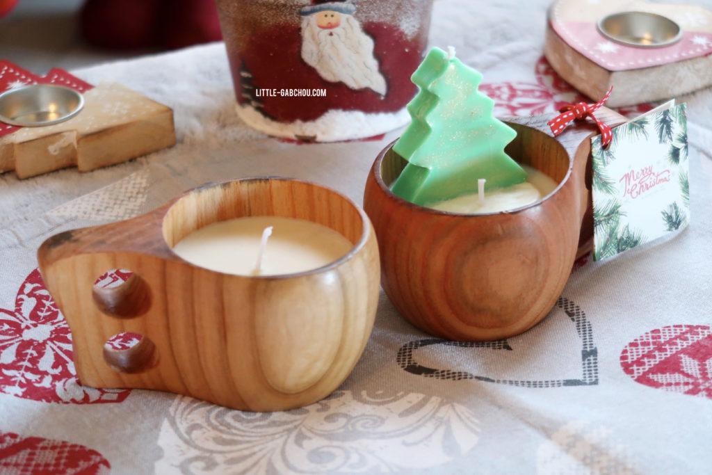 recette bougies de massage de Noël