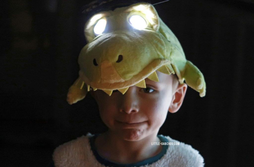 cadeau Flash Mask casquette lumineuse T-rex