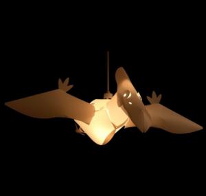 Luminaire pterodactyle
