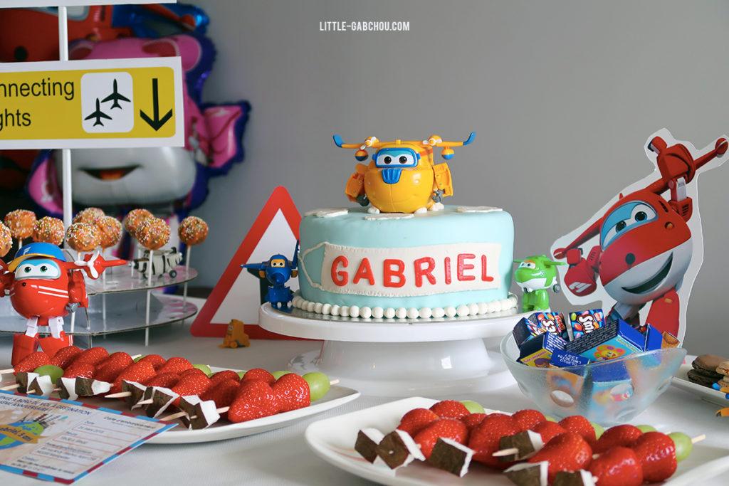 gâteau d'anniversaire Super Wings