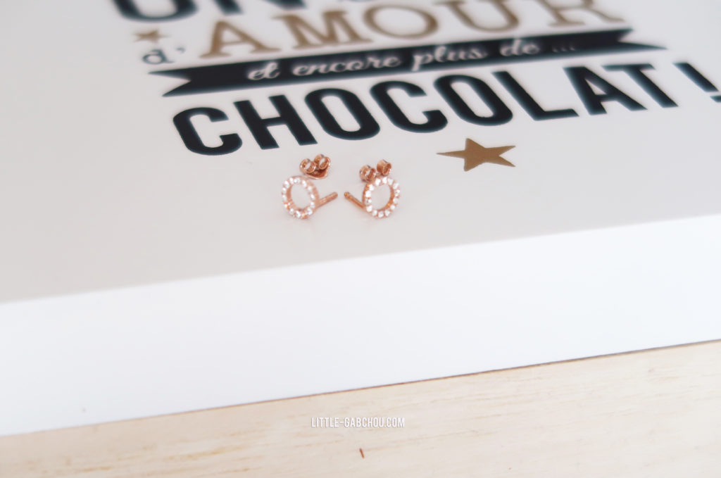 My Jolie candle boucles d'oreilles rose gold edition