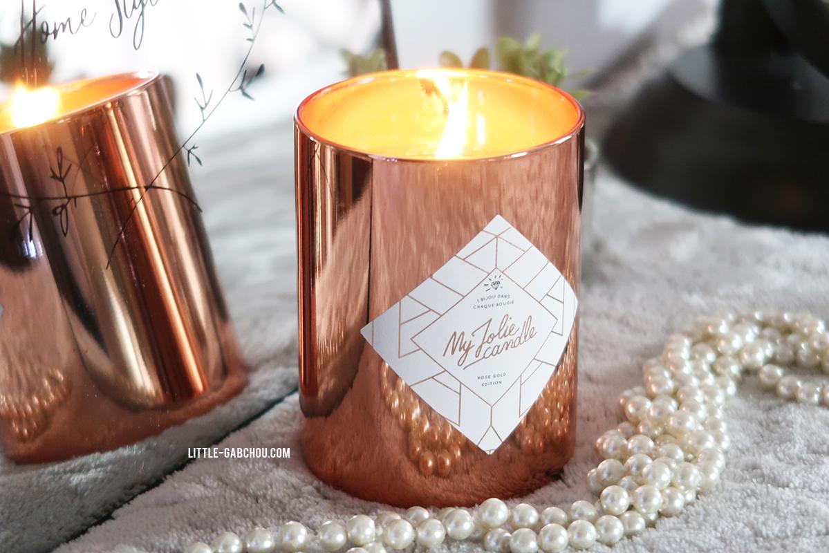 """on découvre la bougie bijou """"rose gold edition"""" de my jolie candle"""