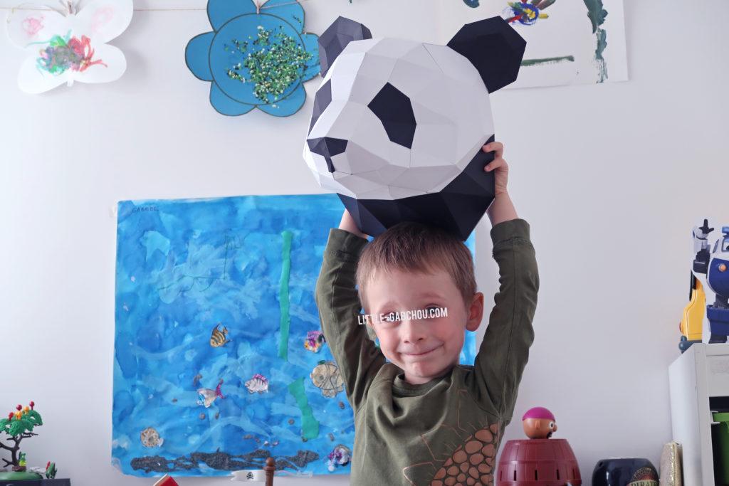fabrication de trophée animal pour décoration d'une chambre d'enfant