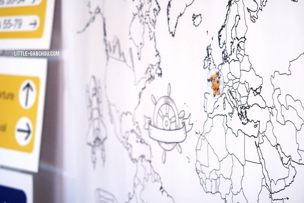 décoration chambre d'enfant poster carte du monde