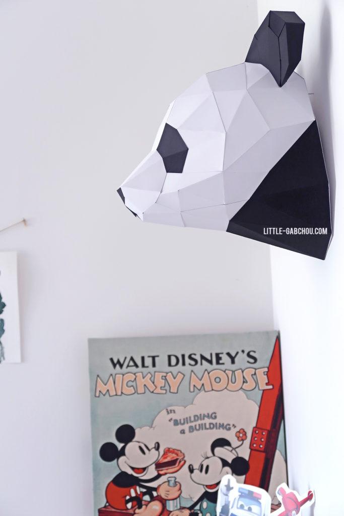 Comment fabriquer une trophée panda origami pour une chambre d'enfant
