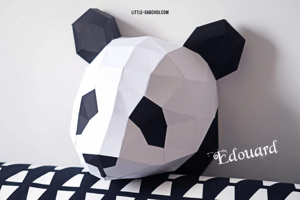 kit DIY pour fabriquer un trophée origami en décoration