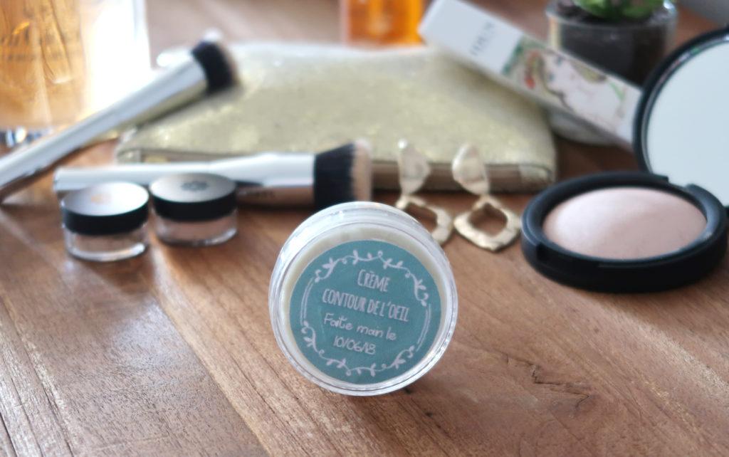 soin de beauté fait maison crème contour de l'oeil