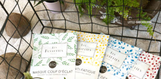 "Test sheet masks bio de ""les Poulettes"""