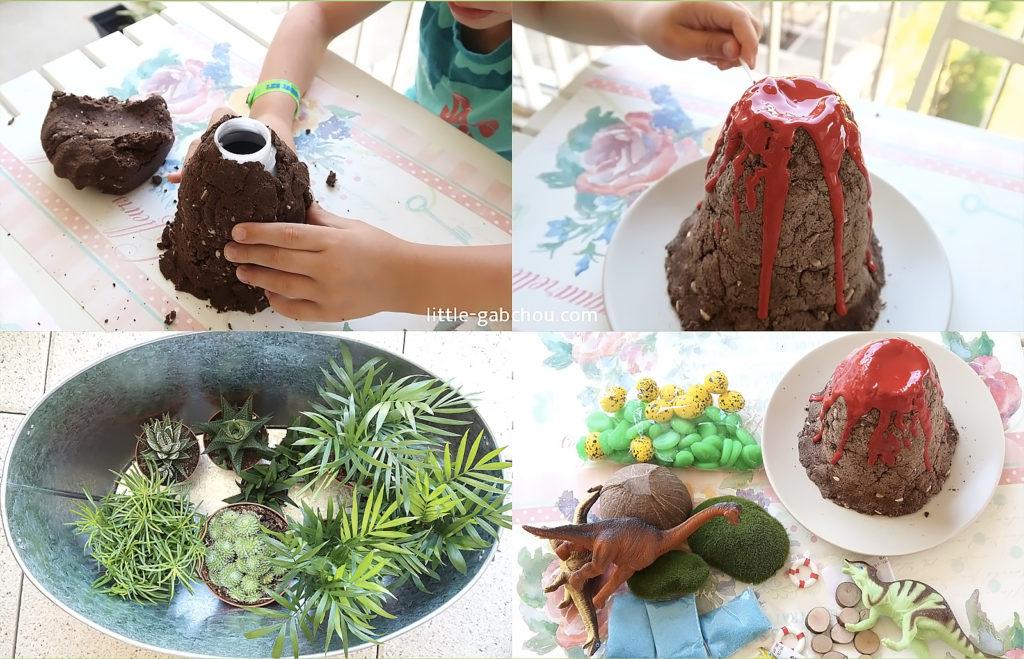 fairy garden sur le thème des dinosaures pour les enfants