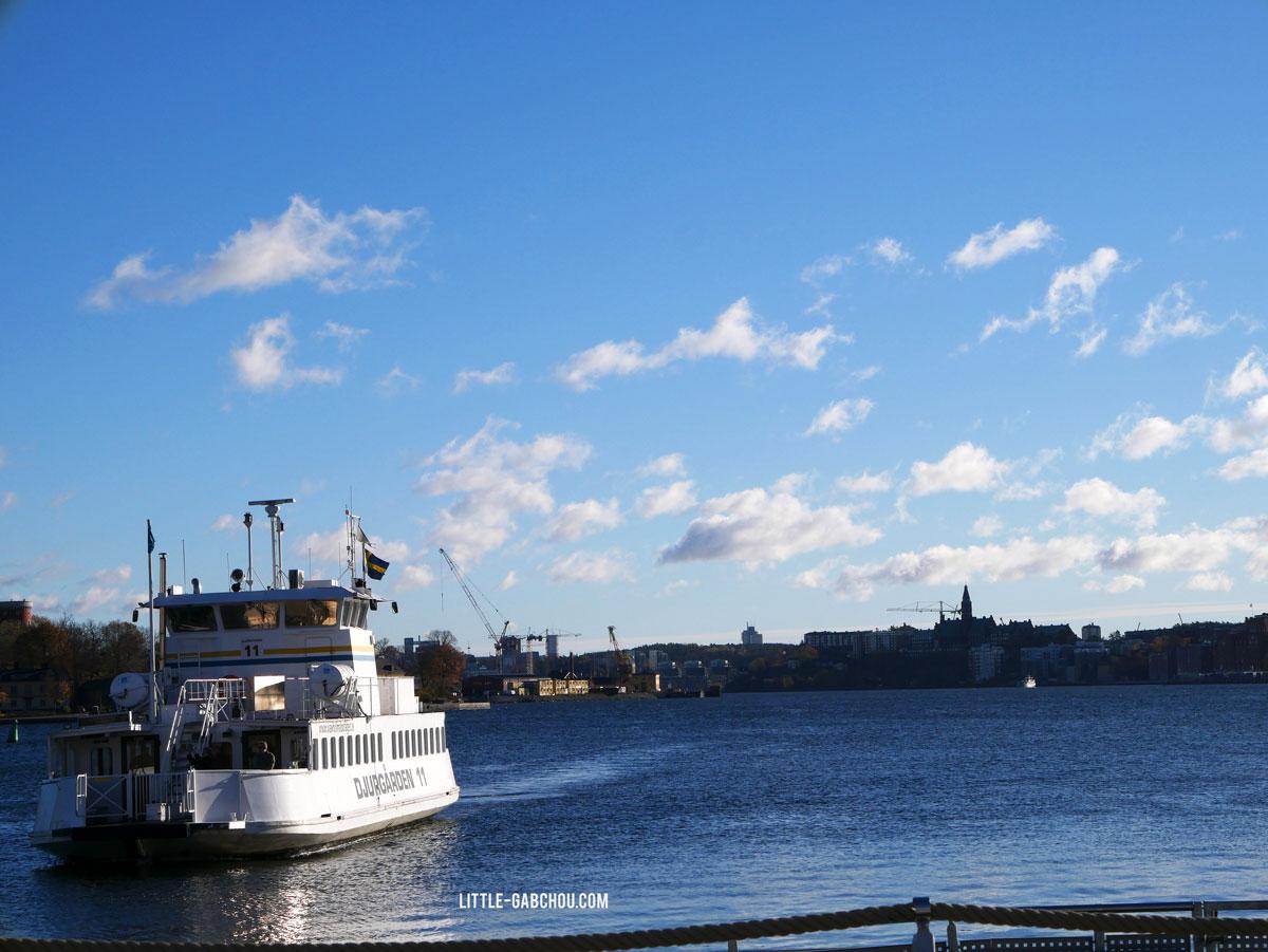 Stockholm en ferry