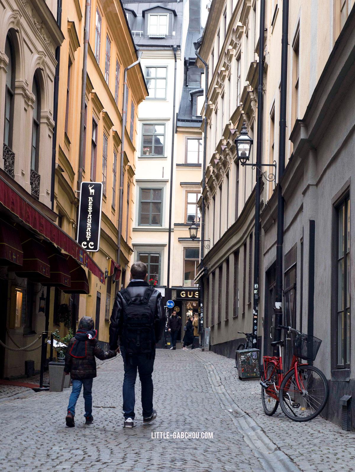 Stockholm en famille Gamla Stan