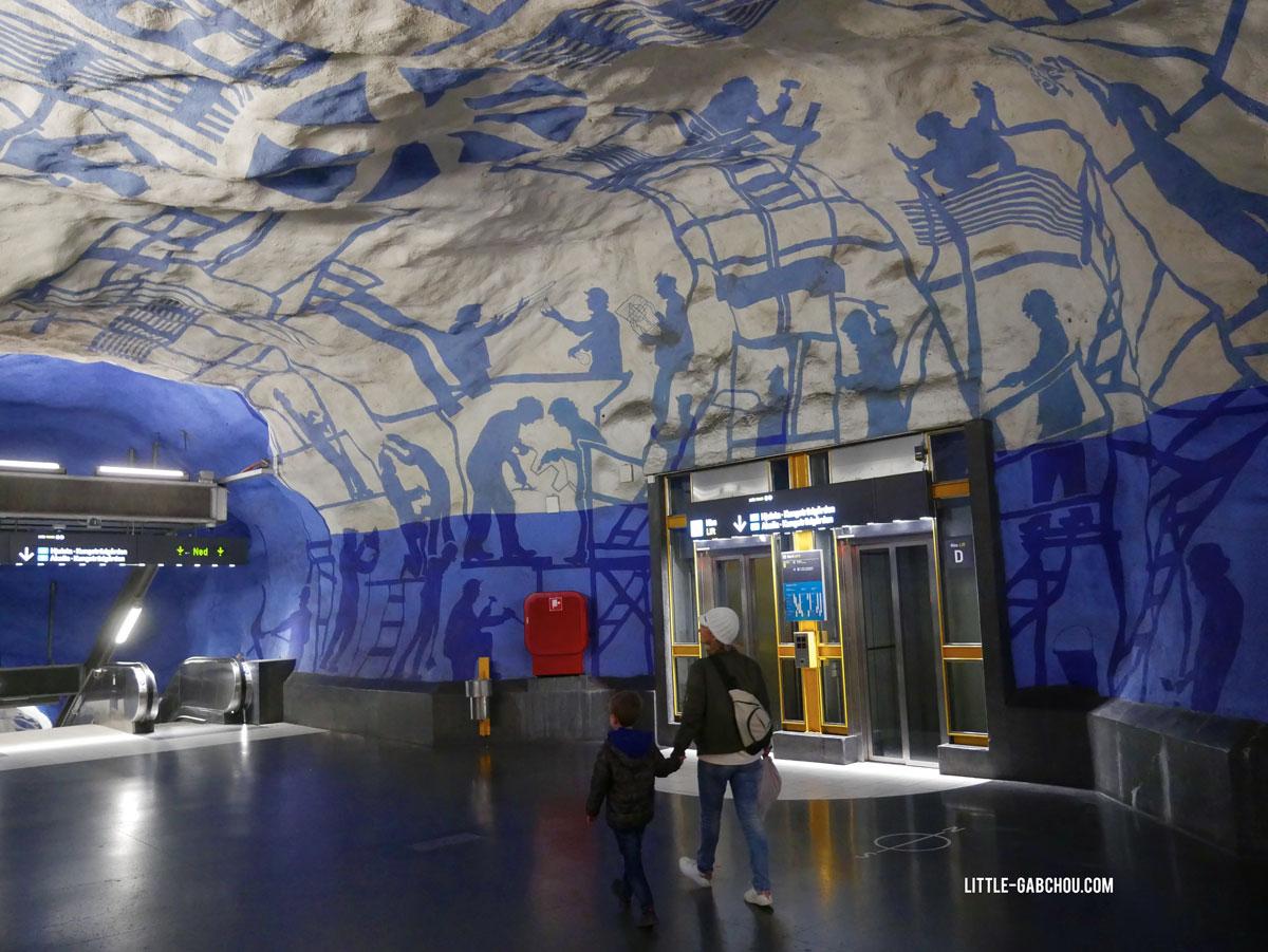 visite du metro à Stockholm