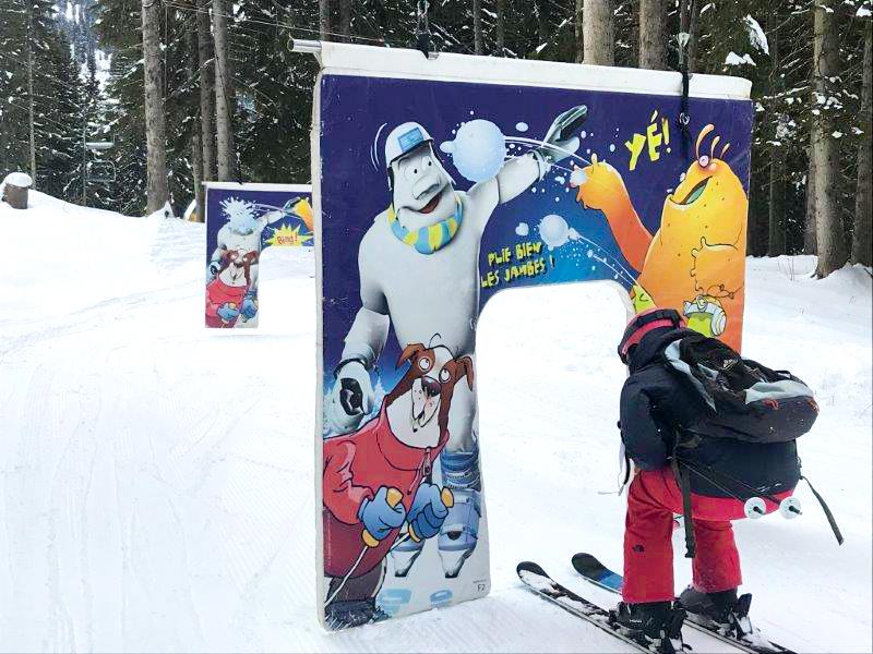 parcours de ski pour les enfants Opoualand