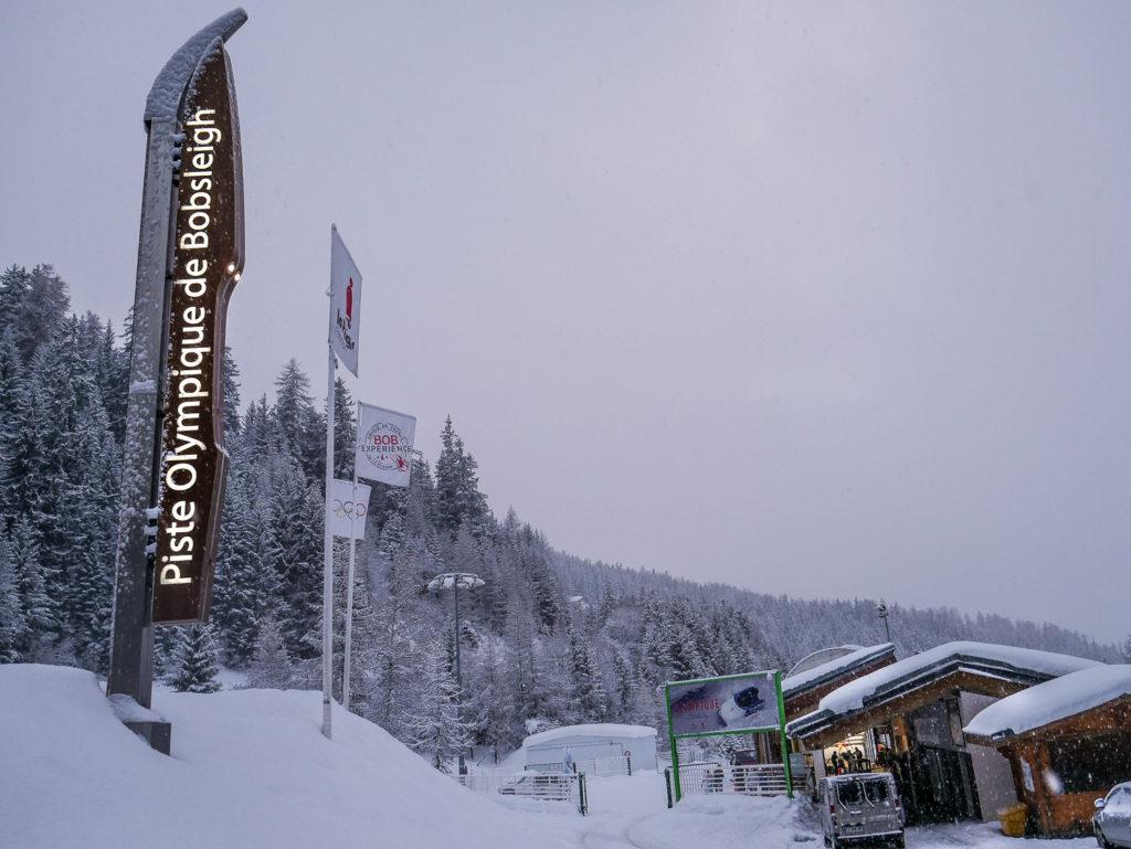 expérience olympique de bobsleigh à La Plagne