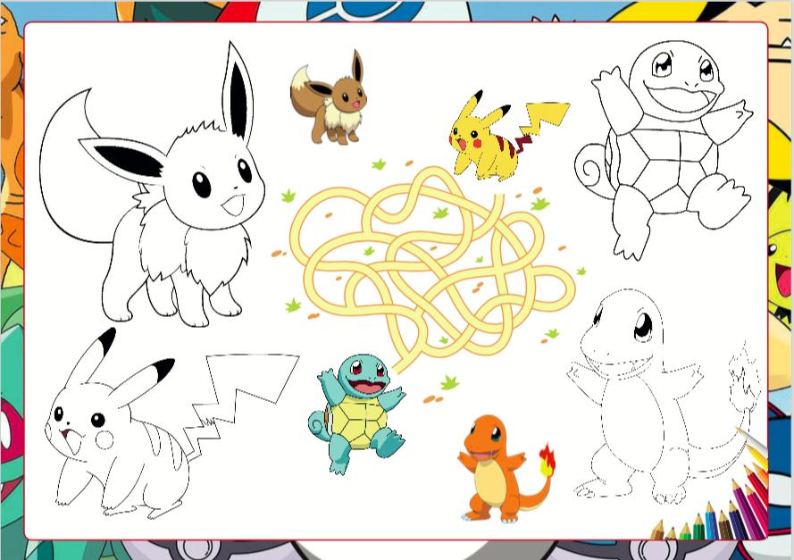 coloriage Pokémon free prinatble