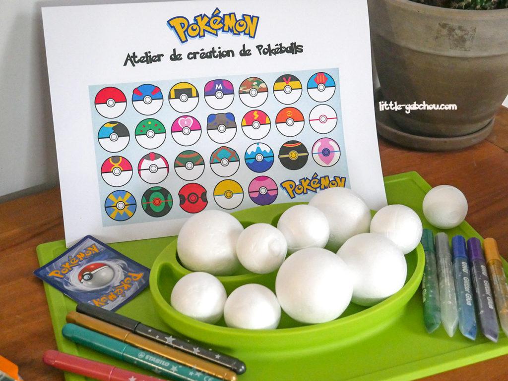 jeux et activités pour anniversaire enfant Pokemon + free printables