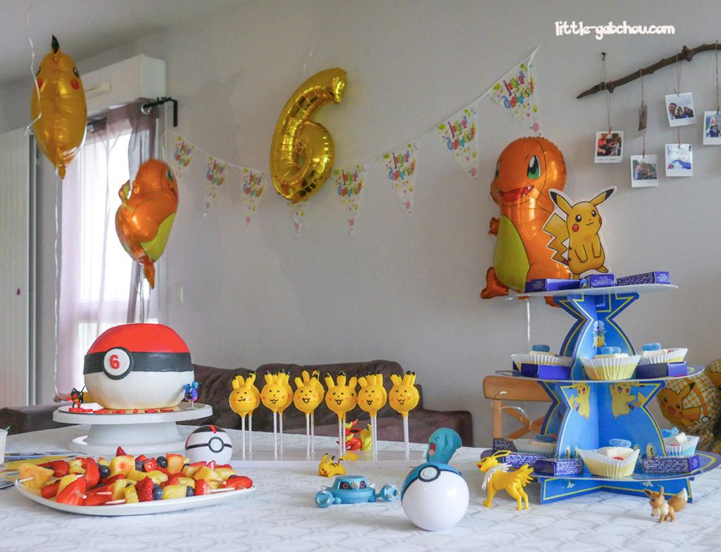 gourmandises idées de décoration fait maison anniversaire Pokémon
