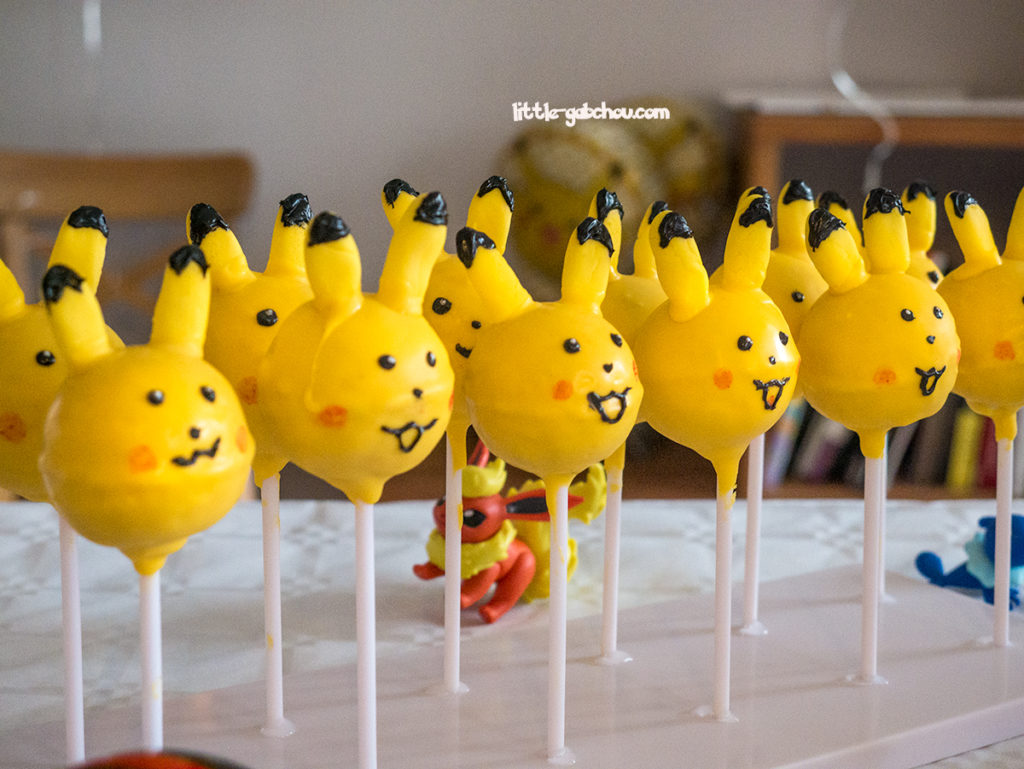 cake pops maison Pikachu