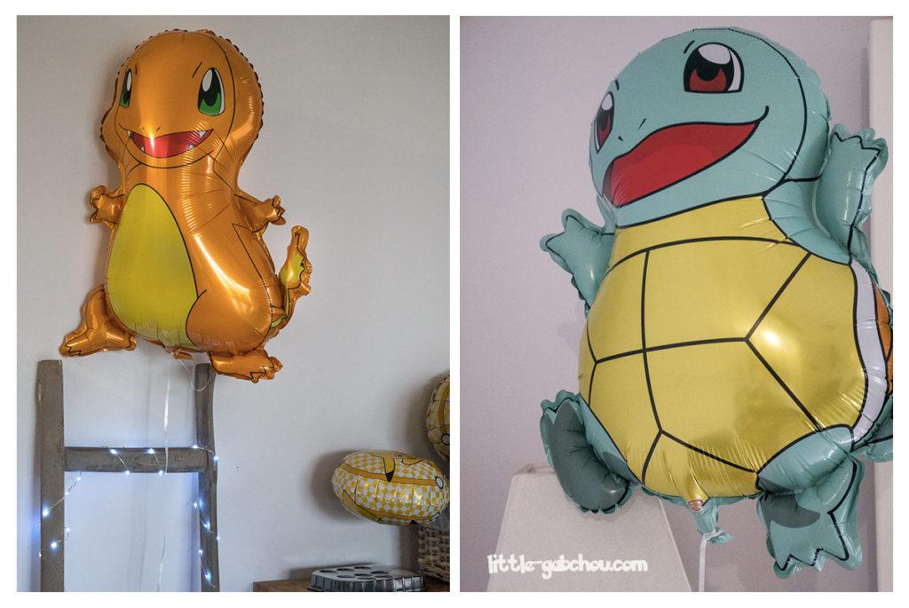 décoration anniversaire sur le thème des Pokemon