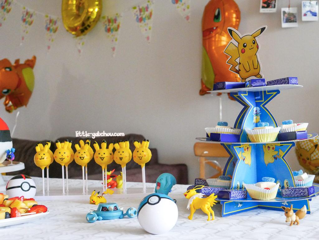 anniversaire sur le thème des Pokémon