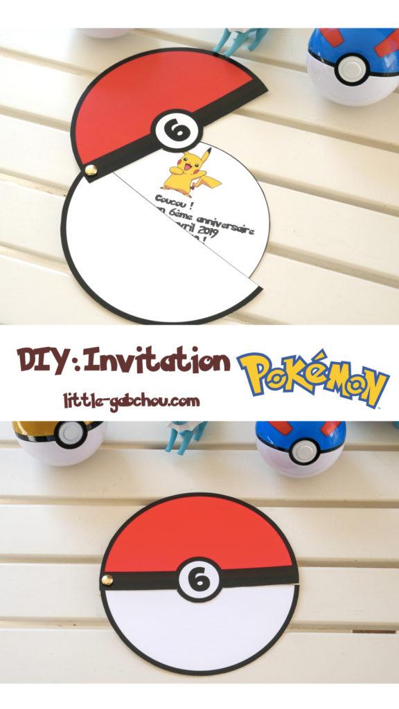 Tuto fabriquer une invitation d'anniversaire pour enfant facile sur le thème des Pokemon