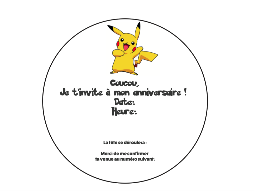 Diy Creer Une Invitation D Anniversaire Mobile Sur Le Theme Des Pokemon