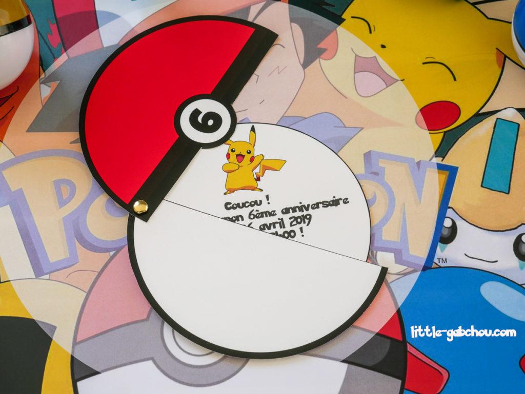 Comment fabriquer facilement une invitation pour anniversaire d'enfant Pokemon